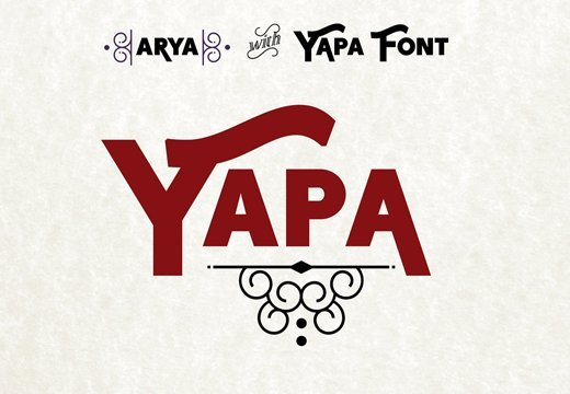Yapa Font Collection: A Beautiful Eye-Catching Display Font for Just $19