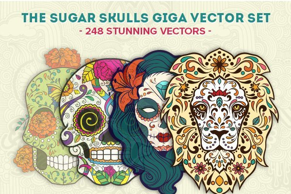 Sugar-Skulls-Vector-Giga-Set-Designious-preview