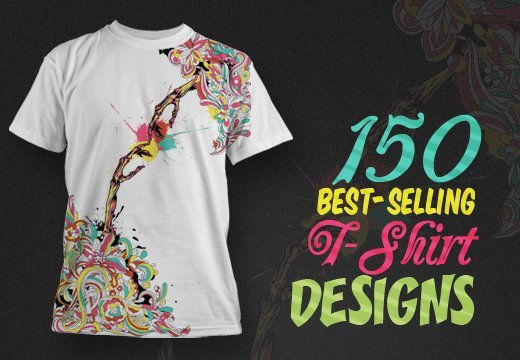 150 best selling t shirt designs with an extended royalty