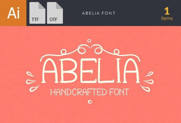 font-abelia-small