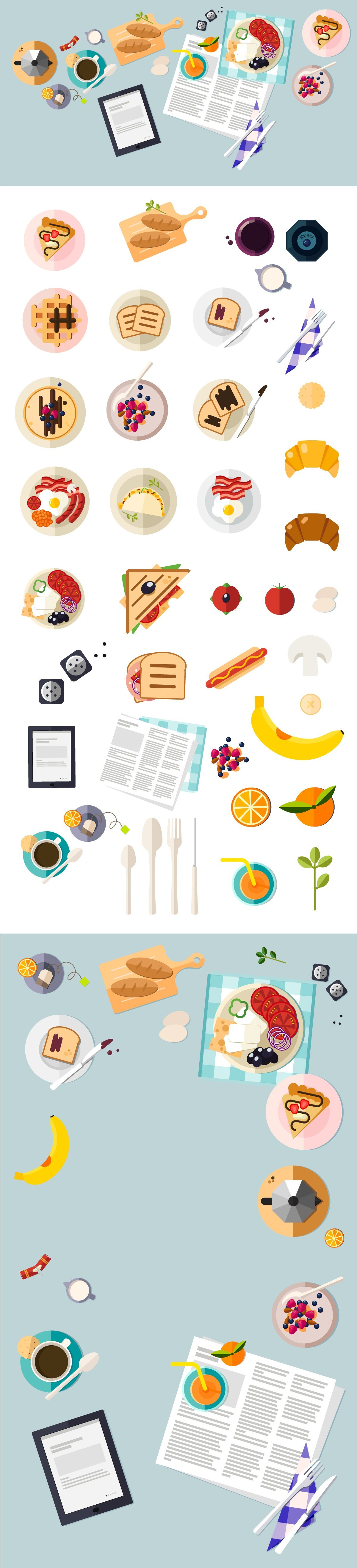 Illustrated vector Set