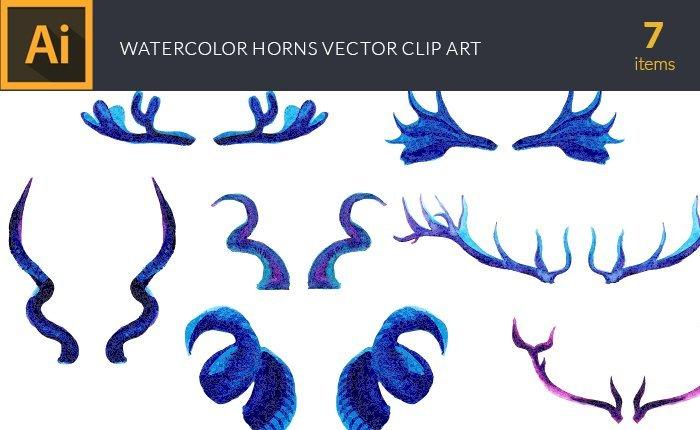 design-tnt-vector-watercolor-horns-small