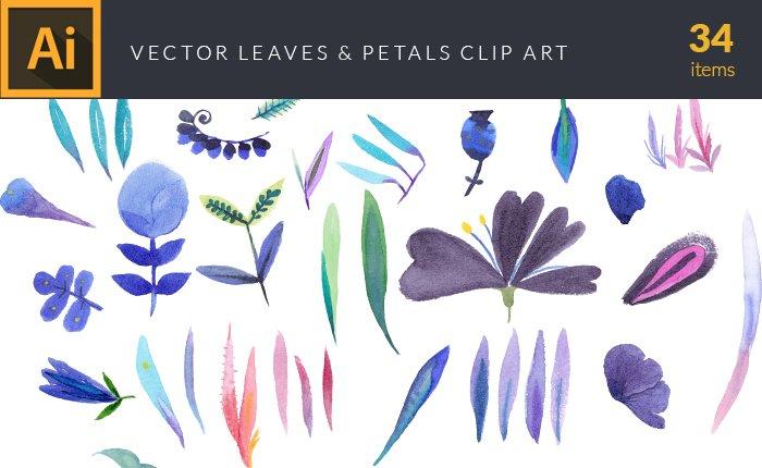design-tnt-vector-watercolor-leaves-petals-small