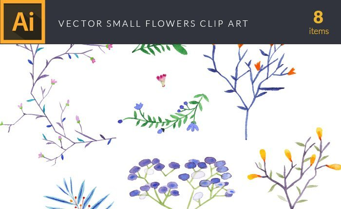 design-tnt-vector-watercolor-small-flowers-small