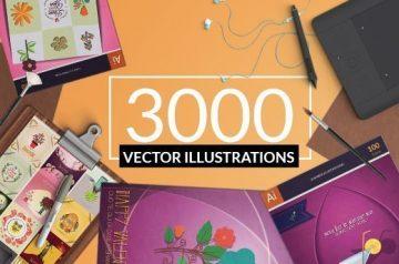 3000 vector illustrations