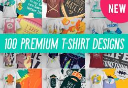 100 Premium T-Shirt Designs-Graphicriver中文最全的素材分享平台