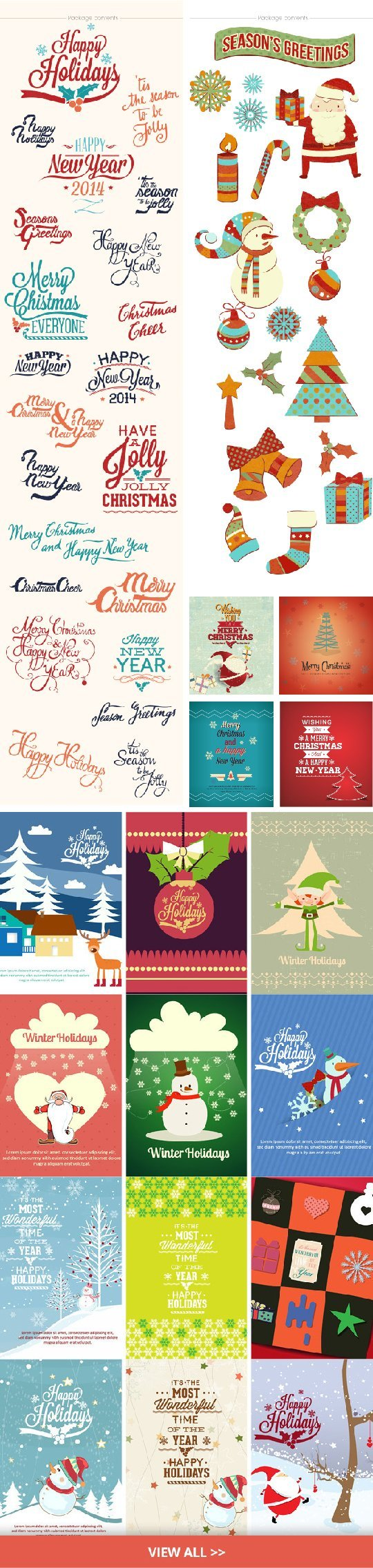 Christmas and winter designer resources