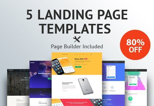inkydeals-5-landing-page-templates