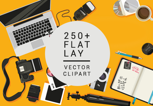 inkydeals-250-flat-lay-vector-elements-preview
