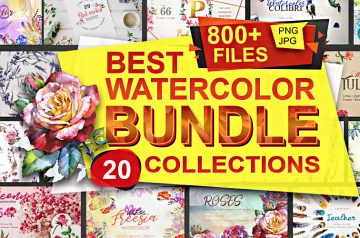 Timeless watercolor bundle