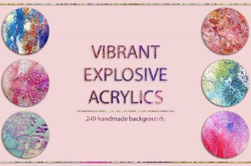 Acrylic backgrounds bundle