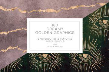Dreamy Golden Graphics