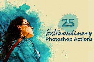 25 photoshop Actions