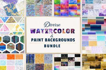 Watercolor & Paint Backgrounds
