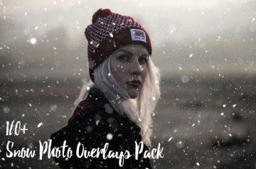 160+ Snow Photo Overlays