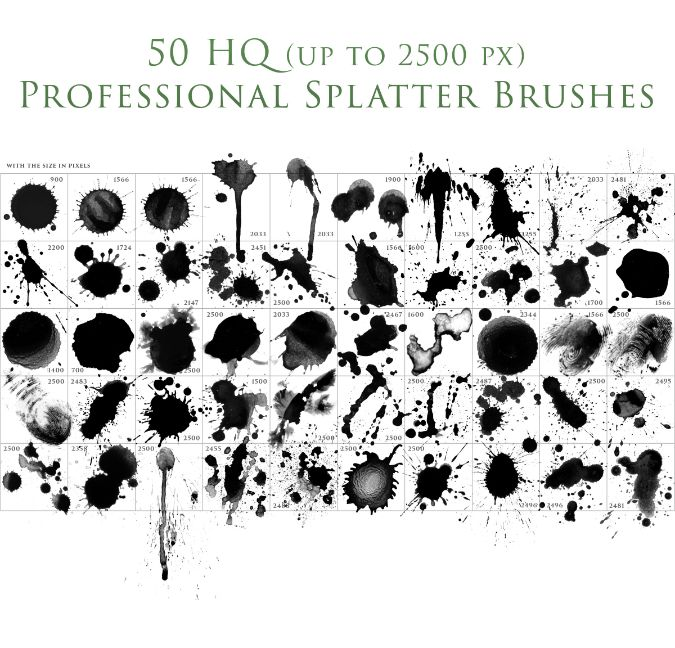 Photoshop brushes pack