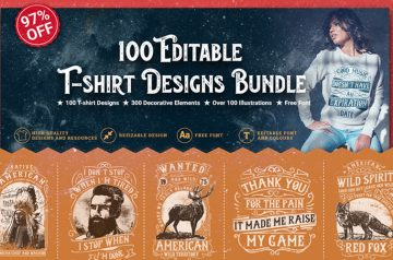Editable T-shirt designs
