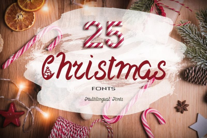 Inky Deals 25 Christmas Fonts.