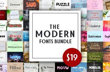 Modern Fonts Bundle