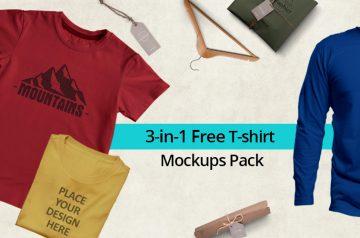 free t-shirts mockups