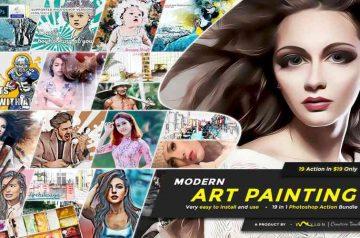 Modern Art Photoshop Actions Bundle
